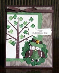 stampin up st patricks day | Stampin' Up! Owl Punch Krystal De Leeuw St. Patrick's Day