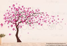 Cherry Blossom Tree Wall Decal (83inch H)