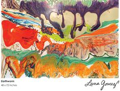 Los Angeles painter Lana Gomez utilizes a mix of mediums in her paintings: watercolor, acrylics, and an acrylic polymer emulsion propell the spontaneous and evolving creative process. Sculpture Art, Gomez, Abstract Art, Abstract Paintings, Amazing Art, Contemporary Art, Cool Designs, My Arts, Watercolor
