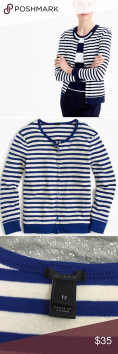 J. Crew perfect fit striped cardigan In like new condition   NO TRADES. NO HOLDS. NO LOWBALLERS. NO NONSENSE J. Crew Sweaters Cardigans