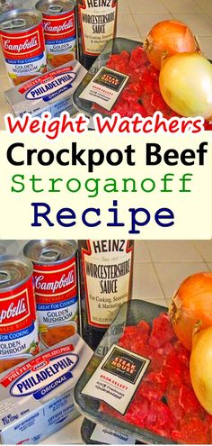 How to Make The Absolute BEST Crockpot Beef Stroganoff. In the slow cooker stir in all the ingredients, except the meat AND the Cream Cheese, together. Once combined add the meat and mix together. Cook on Low for 8 hours. Serve over egg noodles...#crockpot #Skinnyrecipes #beefstroganoff  #weightwatchers #weightwatchersrecipes #weight_watchers #beef #food #skinnydesserts #zeropoints #smartpoints  #WWrecipes #healthyrecipes #letseat #recipesideas  #kidsfood #beefrecipe #crockpotbeef #stroganoff