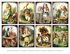 Alice In Wonderland color engravings