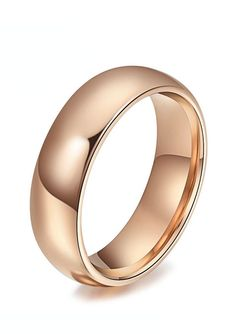 The domed style tungsten wedding band has a rich rose gold finish over the tungsten to give it a beautiful gold copper hue. This simple yet elegant rose gold ring can be worn as a Wedding Band or Promise Ring and is available in 4mm and 6mm widths, making it perfect for women and men who want a matching set. Rose gold tungsten wedding bands are truly unique for those who want to stand out from the crowd!