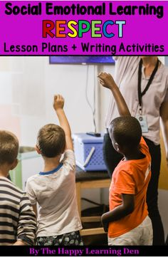 Social Emotional Learning - Respect Lesson Plans and Writing Activities Looking to teach social emotional skills? Use these 5 lesson plans and 15 engaging writing activities to teach your students all about respect. Perfect for students in grades an Social Emotional Development, Social Emotional Learning, Respect Lessons, Writing Activities, Teaching Resources, Teaching Ideas, Last Day Of School, Middle School, Character Education