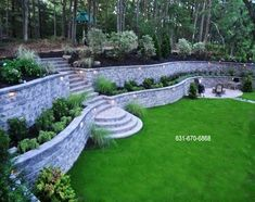 Pavestone Retaining Wall Stackable Block Retaining Wall Pavestone Retaining Wall Stackable Block Retaining Wall The post Pavestone Retaining Wall Stackable Block Retaining Wall appeared first on Gartengestaltung ideen. Sloped Backyard Landscaping, Backyard Retaining Walls, Terraced Landscaping, Landscape Pavers, Landscaping On A Hill, Landscaping Around Trees, Sloped Garden, House Landscape, Landscape Design