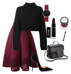 """Outfit #94"" by tatyanaizvestnaya on Polyvore featuring мода, DKNY, The Cambridge Satchel Company, Christian Louboutin и Abbott Lyon"
