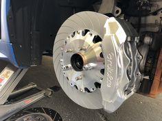 Test fitting Brakes: @rolloface #rolloface #bbk #bigbrakekit #row #stance Caliper Paint, Brake Pads, Cars, Big, Ticket, Autos, Car, Automobile