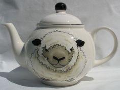 sarahjhomedecor : SHEEP TEAPOT Face & Back Arthur Wood Country Farm *New*