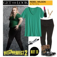 How To Wear Get the Look Rebel Wilson in Pitch Perfect 2 Outfit Idea 2017 - Fashion Trends Ready To Wear For Plus Size, Curvy Women Over 50 Big Fashion, Fashion 2017, Fashion Trends, Pitch Perfect 2, Rebel Wilson, Get The Look, Plus Size Outfits, Ready To Wear, T Shirts For Women