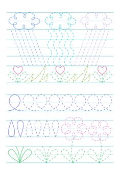 Tracing Worksheets, Free Printable Worksheets, Preschool Worksheets, Kindergarten Learning, Preschool Learning Activities, Writing Activities, Pre Writing, Writing Skills, Very Hungry Caterpillar Printables