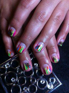 Halloween gel Polish nails