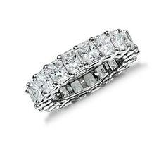 Radiant Cut Diamond Eternity Ring in Platinum (6.00 ct. tw.) #bluenile