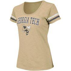 @Fanatics ® ® Georgia Tech Yellow Jackets Ladies Endzone T-Shirt - Gold