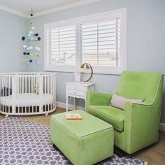 MB's own @jolenekwright's nursery ... Complete with @blablakidsshop mobile + @montedesign Luca Glider 😍😍😍