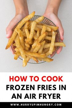 Air Fryer Recipes Snacks, Air Fryer Recipes Low Carb, Air Fryer Recipes Breakfast, Air Frier Recipes, Air Fryer Dinner Recipes, Fish Recipes, Chicken Recipes, Air Fry French Fries, Cooking French Fries