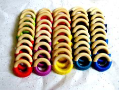 BUY IN BULK FOR BETTER PRICE!!! #etsy #baby #wholesale #fairyofcolor Wholesale Baby Wooden Teething Rings / Lot of 50 by FairyOfColor, $175.00