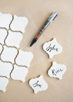 Throw down a festive and thoughtful Friendsgiving with these tips! Including place cards made from tile.