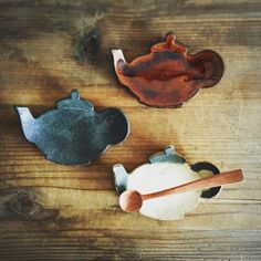 かわいく焼けてたみたいです(^-^) Three cute pots!!!! Small dishes in the form of a pot(^-^)