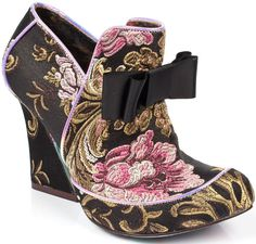 Irregular Choice Lovingly Gazing Black Multi Womens Hi Heels #IrregularChoice #Heels