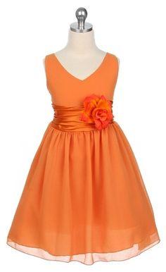 Orange flower girl