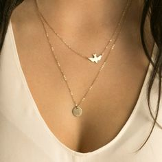 1c6acebff02c Hot Sale Fashion Layering Necklace Gold Delicate Gold bird Necklace   Dove  Necklace Sequins Women Long Pendant Necklaces Jewelry-in Chain Necklaces  from ...