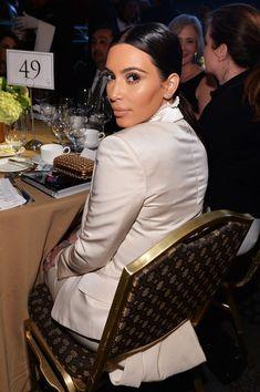 Doing her bit: Kim Kardashian poses at the USC Shoah Foundation's Anniversary Gala at the Hyatt Regency Century Plaza on Wednesday in Century City Kim Kardashian, Kardashian Kollection, Celebrity Dresses, Celebrity Style, Jenner Girls, Kim K Style, Fashion Idol, Jenner Sisters, Kendall And Kylie Jenner