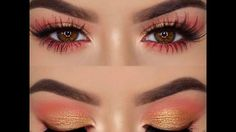 Amrezy's makeup tutorial using The Kylie Royal Peach Palette and The Bronze Palette. Peach Palette Looks, Peach Pallete, Kylie Makeup, Bronze Palette, Peach Makeup, Eyeshadow Looks, Girly Things, Makeup Looks, Makeup Eyes