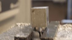 Milling aluminum into a smooth curved surface