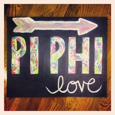pi beta phi love canvas DIY