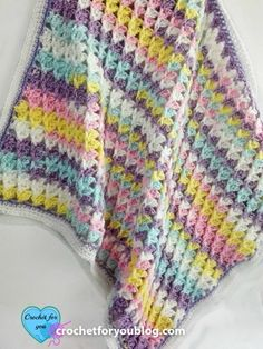 One of this week's Featured Favorites at the Link and Share Wednesday Link Party:   Pastel Peaks Crochet Baby Blanket Free Pattern by Crochet For You  You can get this free pattern right here: http://www.crochetforyoublog.com/2016/11/pastel-peaks-crochet-baby-blanket/