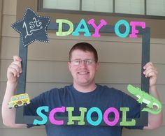 Mrs. Patton's Patch: Back To School Frame DIY to take pictures of each student on their first day