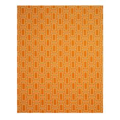 Decorate your home with this intricately crafted Brandon rug. Made of synthetic, this rug features a stunning geometric pattern in shades of orange. This machine-made rug is sure to complete your interior decor.