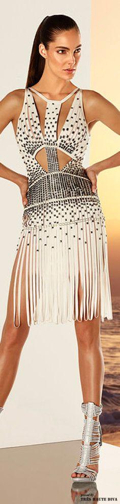 Hervé Léger by Max Azria Resort 2015 - Fringed Dress