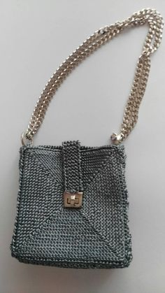 Τελευταία κομψή τσάντα ώμου γκρι από GomitolieDintorni στο Etsy