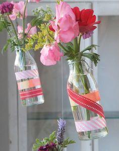 washi tape vase decorating ideas #washitape #deco #vase