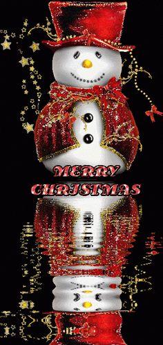MERRY CHRISTMAS SNOWMAN GIF