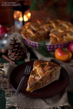 Яблочный пирог, Apfelkuchen, apple pie, Weihnachten, Christmas, Рождество