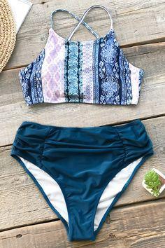 fd6396a2a7 Show off your boho beach babe vibes in our Boho Print Shirring Bikini.