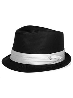 Accessories - Peter Grimm Black and Silver Fedora - Men's Wearhouse
