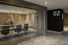 Century City Conference Centre meeting room entrance detail by Source Interior Brand Architecture