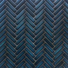 Accent the look of your home with this Vintage Herringbone Mosaic. Originally designed to be used in the traditional federation style, this Vintage Herringbone has recently reemerged into the market. Glass Tile Backsplash, Mosaic Tiles, Tiling, Blue Bar, Bathroom Interior, Bathroom Inspo, Herringbone Tile, Blue Floor, Blue Texture