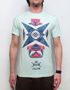 Ucon t-shirt Ciclope light mint - Euro 47.00  Short sleeve t-shirt by Ucon, illustration by Pablo Abad from Madrid