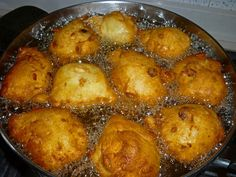 Frittelle Veneziane - hot with sugar and lemon at the festival of Madonna della Salute