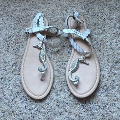 Selling this Lucky Brand Seahorse Sandals NWOT in my Poshmark closet! My username is: allison_motea. #shopmycloset #poshmark #fashion #shopping #style #forsale #Lucky Brand #Shoes