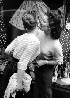 """Soho Greeting"", by Thurston Hopkins, London, 1956. #vintage #1950s #women"