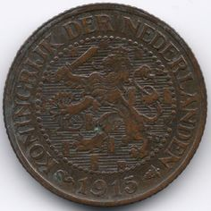 Netherlands 2 1/2 Cent 1915