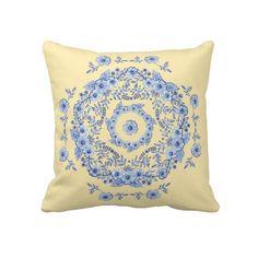 Blue Rhapsody Throw Pillow by Patricia Shea Designs