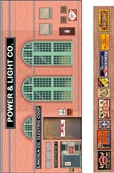 Click this image to show the full-size version. Cardboard Box Houses, Cardboard Toys, Paper Houses, Ho Scale Train Layout, Train Layouts, Brick Paper, Ho Scale Buildings, N Scale Model Trains, Free Paper Models