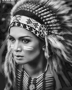 Red Indian Tattoo, Indian Women Tattoo, Indian Girl Tattoos, Indian Skull, Small Girl Tattoos, American Indian Girl, American Indian Tattoos, Native American Girls, Native American Beauty