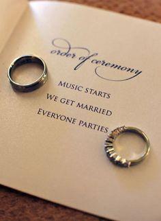 Fun and Creative Wedding Program Ideas